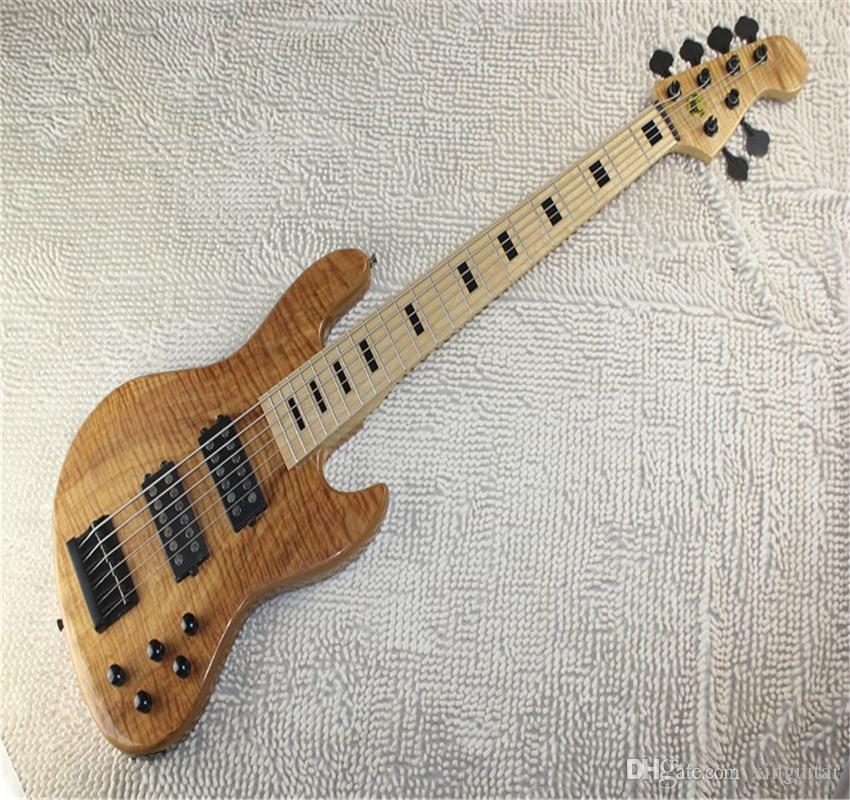 Livraison gratuite Top Qualité Earth Standard 6 String Bass Guitare à Burlywood avec Pickup Active Bass Electric