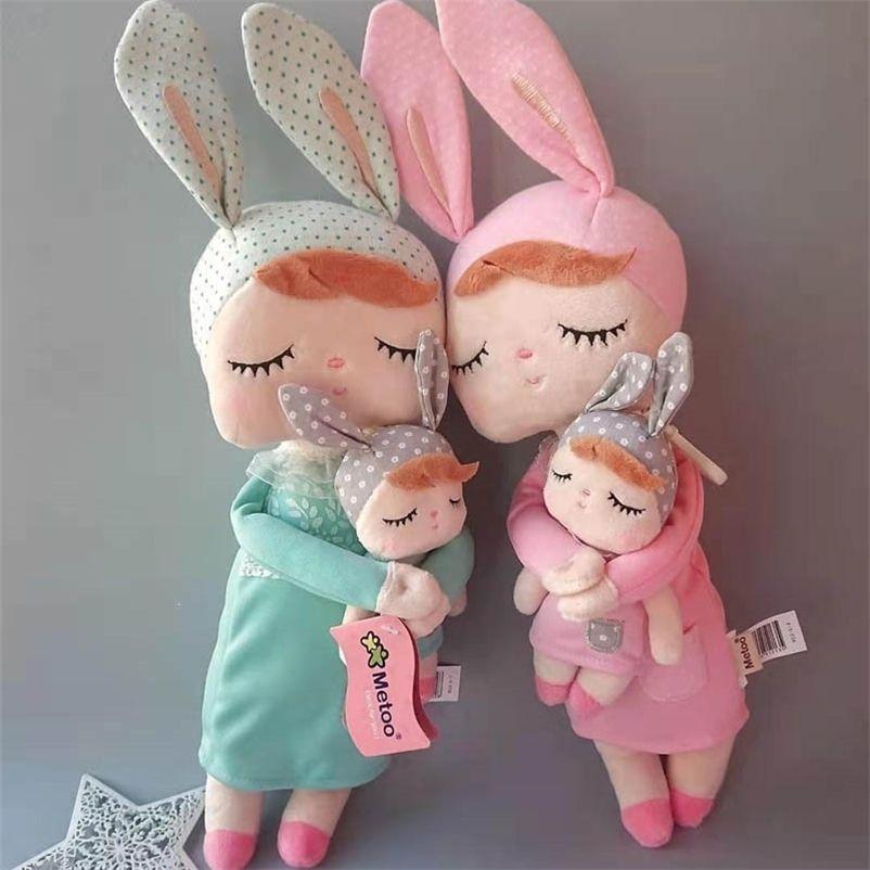 42cm genuíno original nova chegada linda Metoo coelho boneca pelúcia animal macio brinquedos de pelúcia para crianças presente 201222