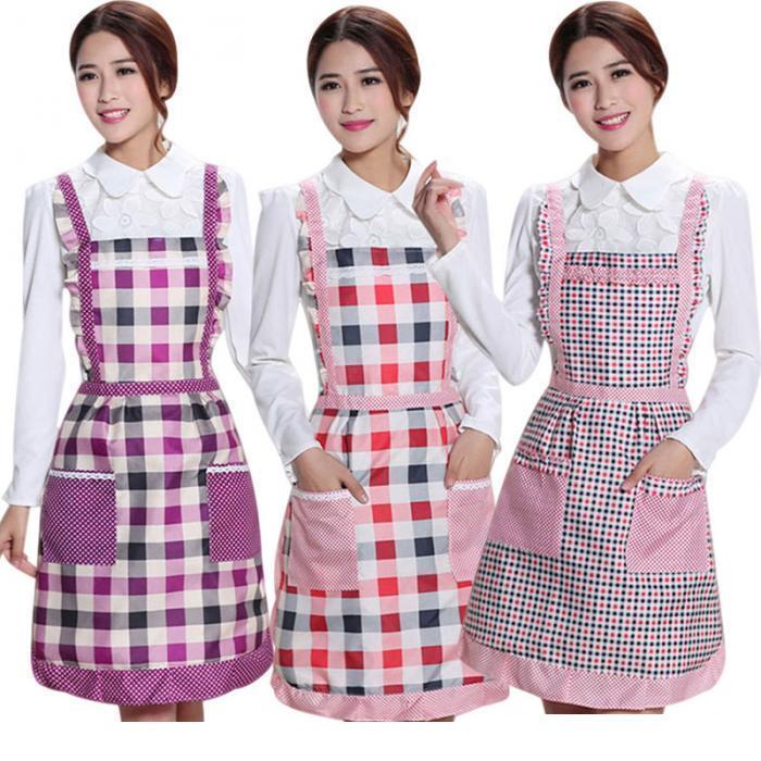 Mulheres, senhora, cozinha, avental, vestido, restaurante, casa, cozinha, para, bolso, cozinhar, engraçado, algodão, avental, baba, sala, jantar, churrasco quente