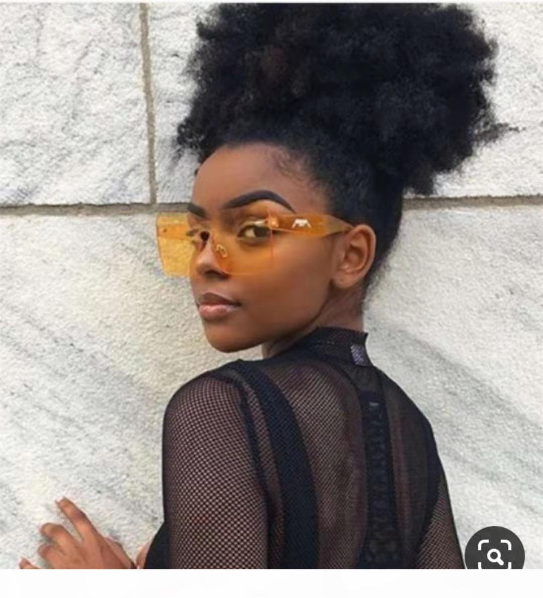 3B 4C Afro Kinky Curly Curly Extensão de Cabelo Virgin para Mulheres Negras 140g 120g Natural Cabelo Puff Cabelo Humano Weave rabo de cavalo