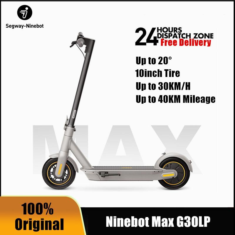 2021 Оригинальный Kickscooter 30 км / ч Ninebot Max Max G30LP Электрические скутеры с приложением Ninebot Dual тормозные патинуты Eletrico 10inch