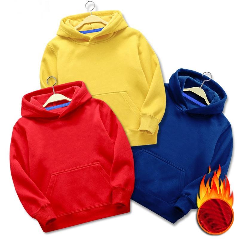 Yüksek Kaliteli Özel Logo Işlemeli Unisex Pamuk Fransız Terry Polar Ağır Hoodies Kazak Çocuklar için ADULTT