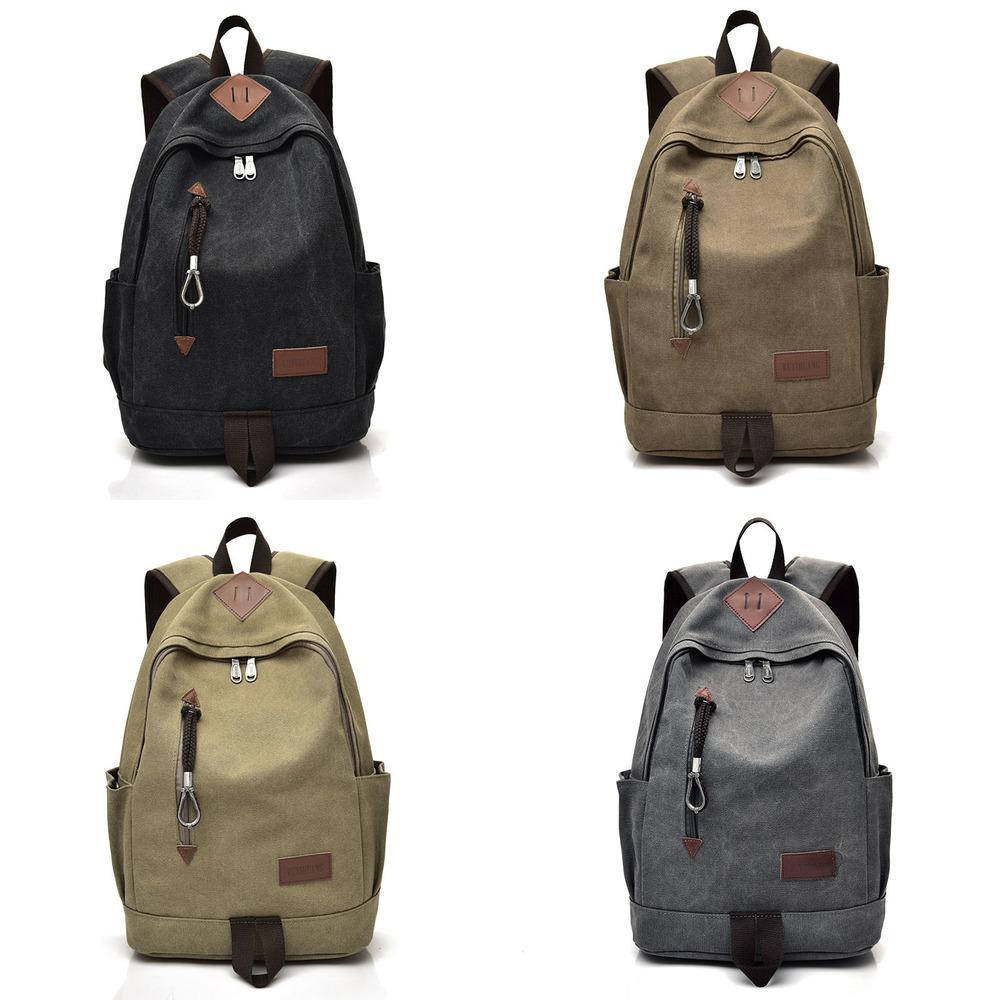 HBP Factory Backpack Large Capacity Diagonal Shoulder Business Casual Men's Canvas Sports School Bag Student Q0112
