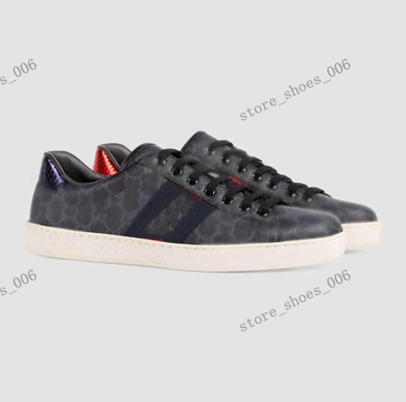 Gucci shoes Luxe Klasik Siyah Kırmızı Alt Mens Bayan Tasarımcı Ayakkabı Düşük En İyi Rahat Düz Açık Zapatillas Sürüş Sneakers