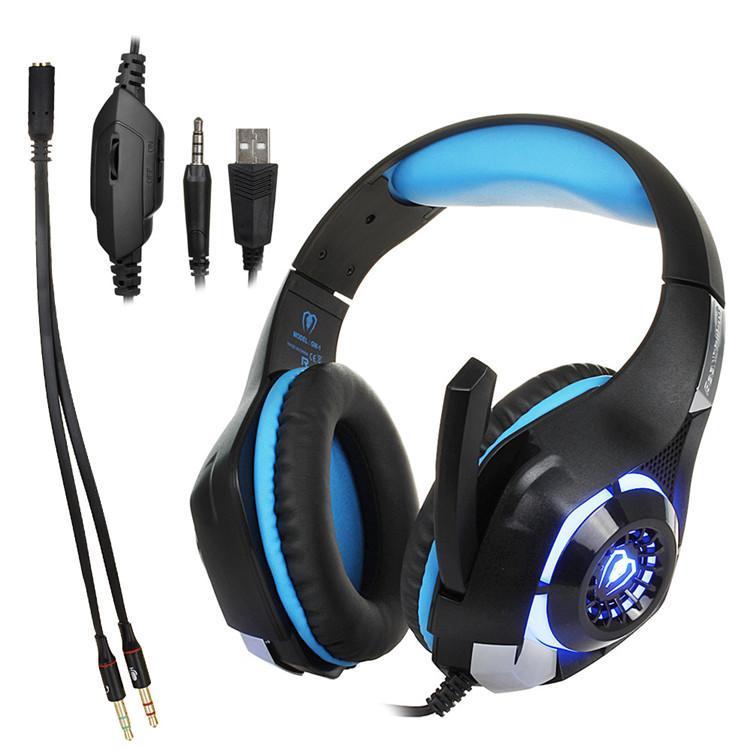 BEXCELLENT GM-1 ESPORT GAMING Headset Stereo Bass Kopfhörer Kopfhörer über Ohr 3,5mm mit Mikrofon LED Licht Geräusche Reduktion