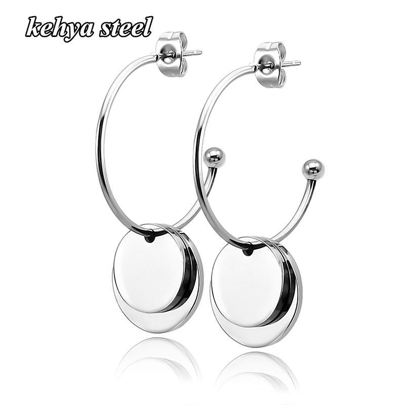 Große Reifen Ohrringe Brincos Runde Große Kreis Party Ohrring Mode Doppel Runde Kette Ohrring Frauen Männer Mode Glänzend