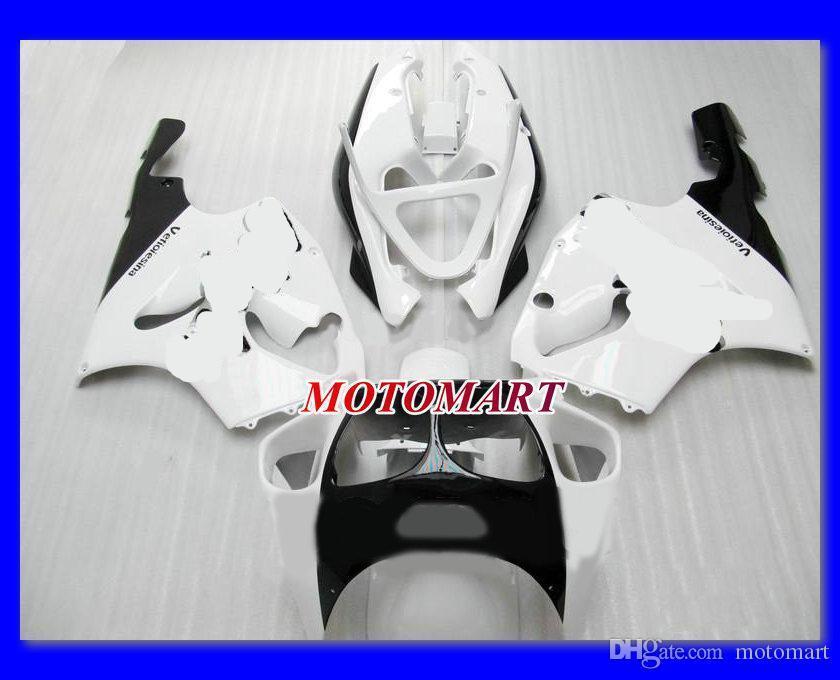 Weißes Verkleidungsset für Kawasaki Ninja ZX7R 96 97 00 03 ZX-7R ZX 7R 1996 1999 2000 2003 Verkleidungen