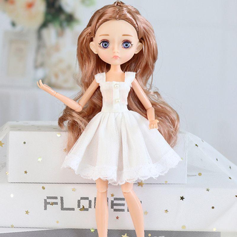Nuova edizione 11 corpo mobile congiunto 26 cm 1/6 bambola viola occhi marroni con vestiti di moda scarpe stile vestire vestire bambole bambino giocattolo fai da te 201203