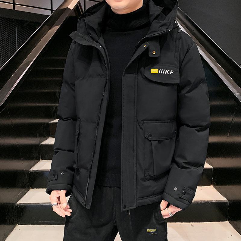 Зимний мужской хлеб одежда Новый корейский стиль красивый утолщенная теплая куртка с капюшоном хлопок