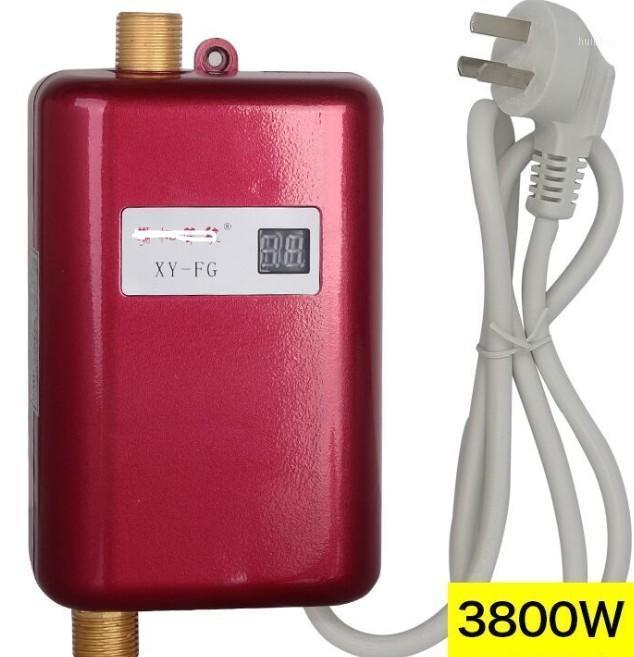 3800W Calentador de agua Mini Sinkless Instant Hot Faucet Calefacción Calefacción Termostato Through EE. UU. Enchufe inteligente Energía Ahorro impermeable1