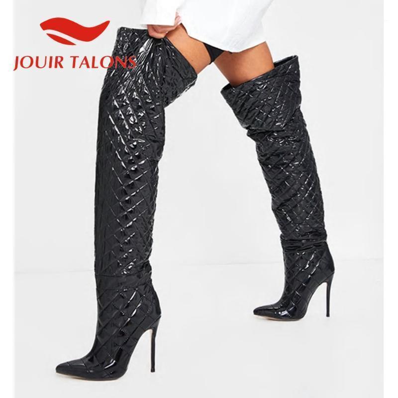 Jouir Talons Hohe Qualität Schuhe Frau Marke Neue Ultra High Heels Oberschenkelstiefel Dünne Fersen Herbst Winter Booties1