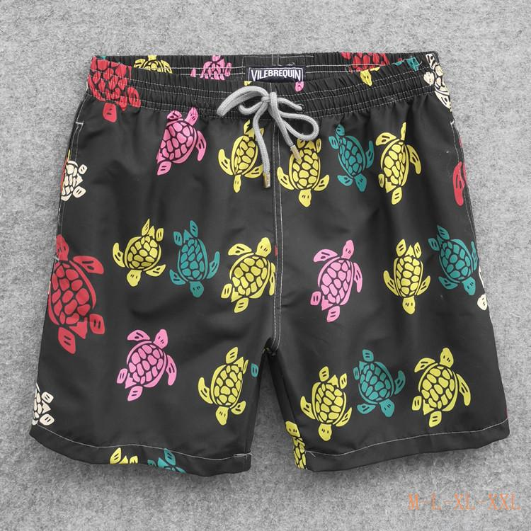 Mens Summer Swing Short Vilebrequin Bermuda Beach Vêtements Tortues Nouveau Casual Hommes Style