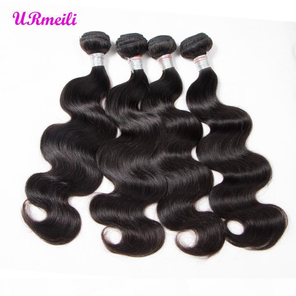 Urmeili brasileño ola ola extensiones de cabello 100% remy humano tejido de pelo paquetes 3 4 piezas color natural cabello humano barato 30 pulgadas paquetes