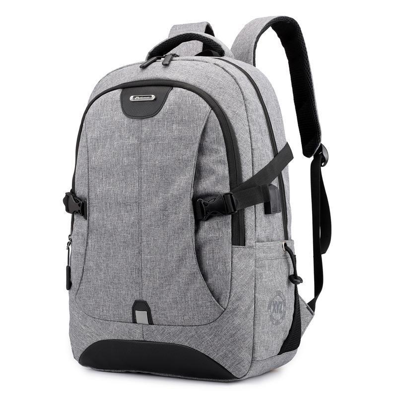 Nova bolsa mochila esportes embarcação de viagem ao ar livre carregando grande capacidade USB computador moda bipqg