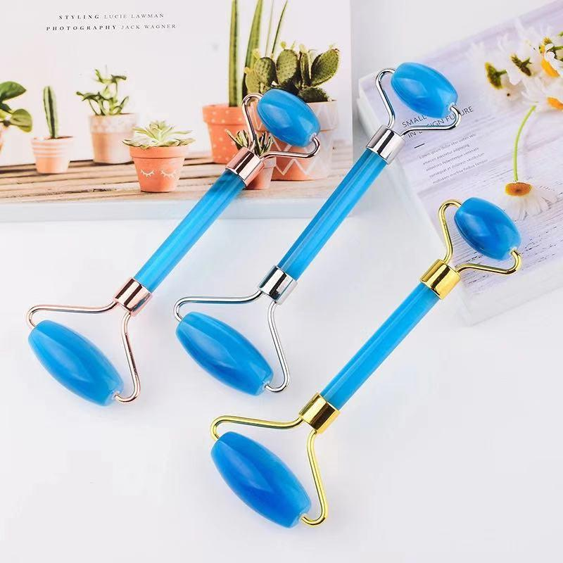 Face Care Massager Artificial Cat Eye Stone Jade Roller For Face Lifting Neck Eye Massage Skin Care Beauty Health Care Tool
