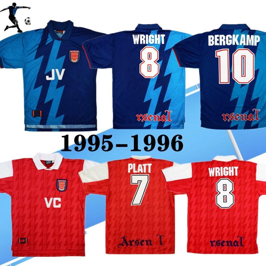 1995-96 AR SEN بعيدا قميص الرجعية لكرة القدم جيرسي بيرجكامب رايت آدمز مرسون هارتسون هيليه 95 96 قميص كرة القدم الكلاسيكي القديم
