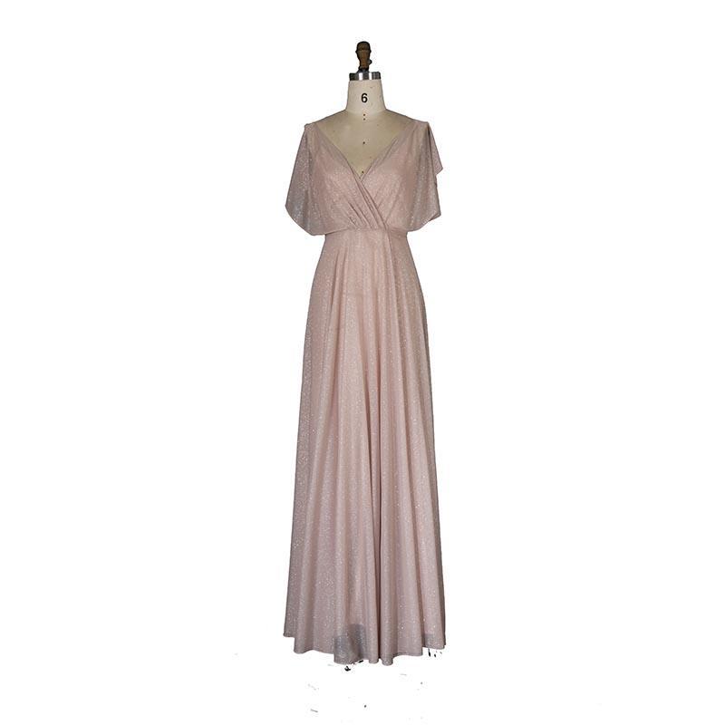 Свадебное платье Flash Thint BrideMaid платье для подружки невесты с розовым золотом без спинки V Les одевает платья