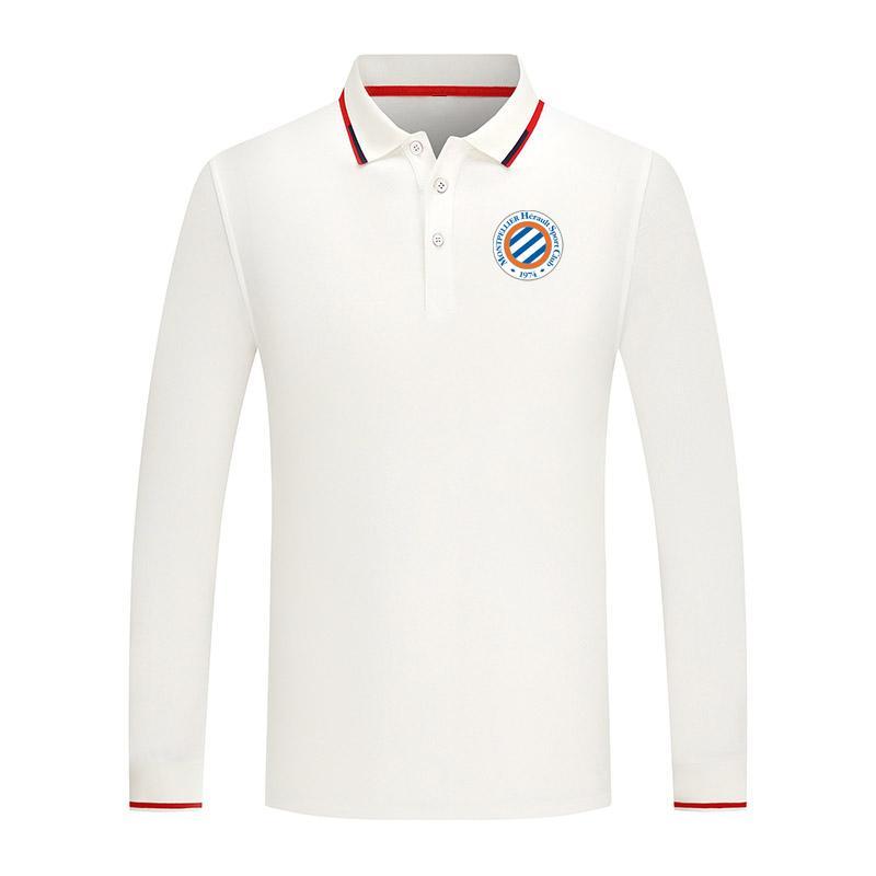 2021 Montpellier New Long Sweat Sports Polo Polo Cotone Casual Polo da uomo Camicia da golf di alta qualità Camicia da golf