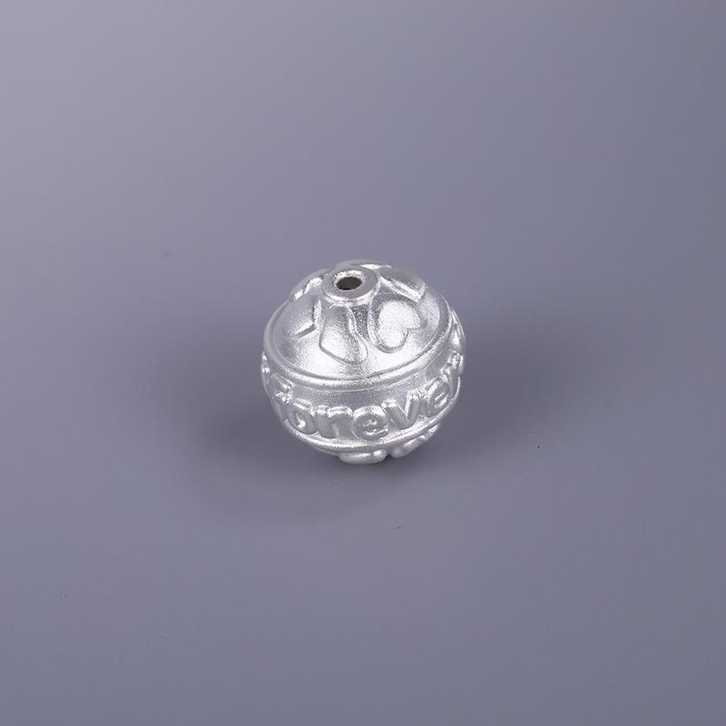 999 Zuoyin 3D Hard Silver Silver Love Pattern Separato perline ACCESSORI DI FAI DA TE Braccialetto con corda