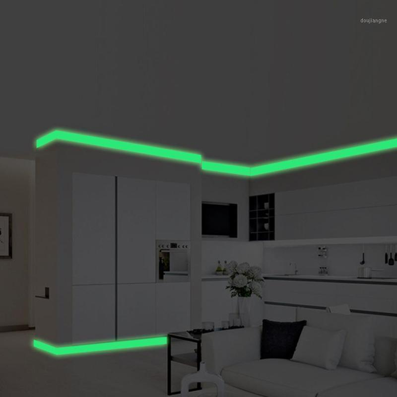 Leuchtband Baseboard Wand Wohnzimmer Schlafzimmer Wohnkultur Aufkleber Glow in der dunklen Streifen Aufkleber1