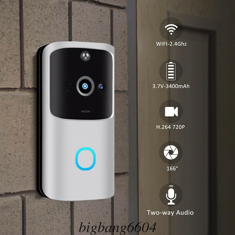 M10 2.4 جرام لاسلكي واي فاي الذكية جرس الباب الكاميرا الفيديو البعيد الباب جرس الدائري إنترفون cctv الرنين الهاتف التطبيق الأمن المنزل