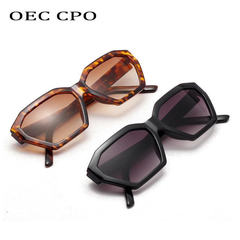 OEC CPO Vintage Square Sunglasses Femmes Élégant Petit Cadre Noir Black Shades Sexy Sun Lunettes Femelle Brand Verres Cadre O248