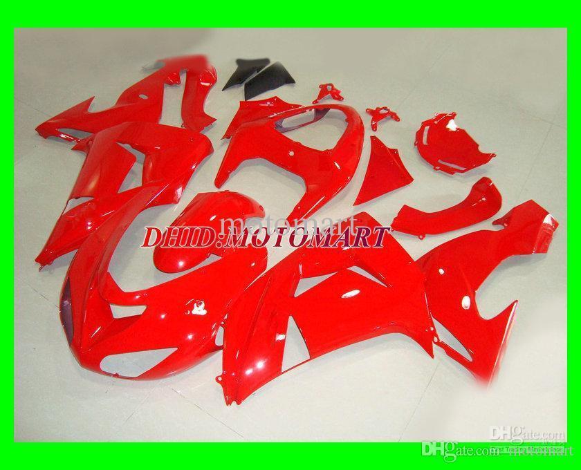 Total Kit de Feira Vermelho para Kawasaki Ninja ZX10R 06 07 ZX-10R ZX 10R 2006 Fairings Set + 7Gifts