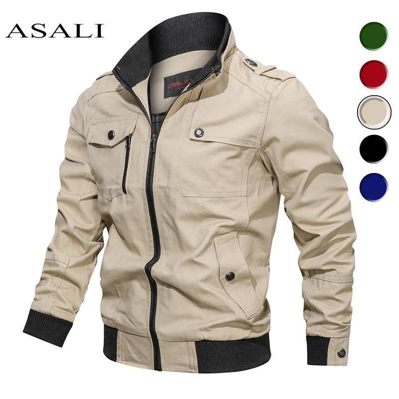 2020 Military Veste Hommes Spring Automne Coton Coton Breaker Manteau Homme Armée Vestes de bombardiers pour hommes Cargo Veste Veste Male Vêtements LJ201215