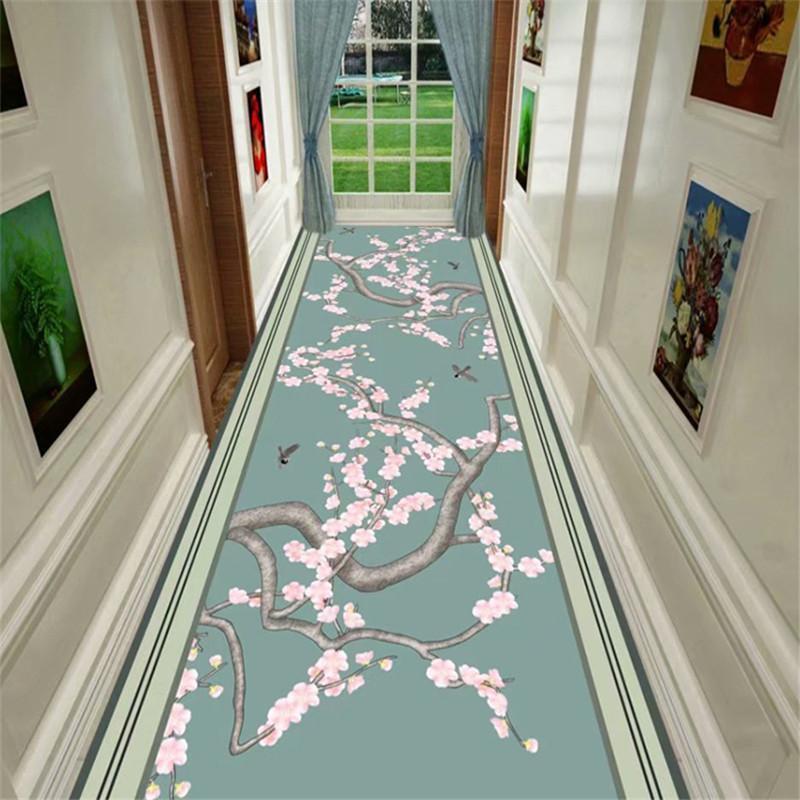 3D Nordic Flor Hallway Alfombra Moderno Piso Corredores Alfombrilla Dormitorio Dormitorio Largo Pasillo Antideslizante Alfombra para Home Hotel Aisle Fiesta Boda
