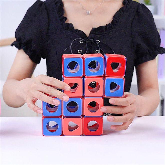 DIY Dreidimensionale Denkkörper Rubik's Cube Smart Assembly Multi-Body Modelling Puzzle Space Denken Spielzeug Stehender Volumenblock