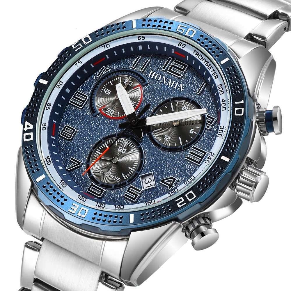 Водонепроницаемый ремень бизнес мода 2020Honmin88 часы мужская календарь досуг кварцевый кварцевый