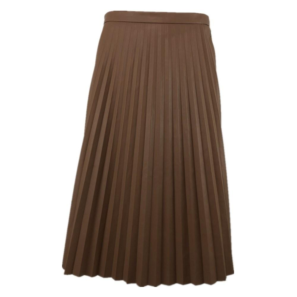 Long Pleated Skirt Woman Skirts Leather Vintage Korean Style Plus Size Lolita Brown Maxi Sexy 2020 White Harajuku Y1214