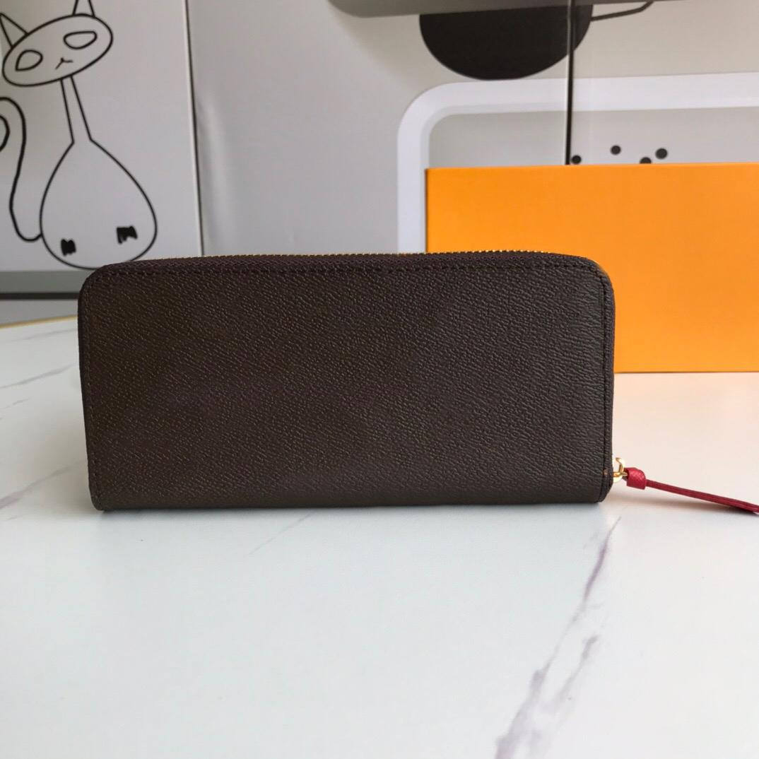 Geldbörse Frau Clemence Designer Brieftasche Lange Brieftasche Clutch Mode Halter Monogramm Qualitätskarte mit Luxurys Staubgeldbeutel PU Box Tasche High Jonr