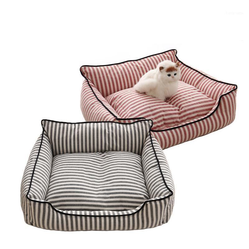 Hiver chaleur chat chat chat lit douce lavable maison pour petits grands chiens de grande taille dormant sans glissement de chenil de chenil anti-slip fournitures1