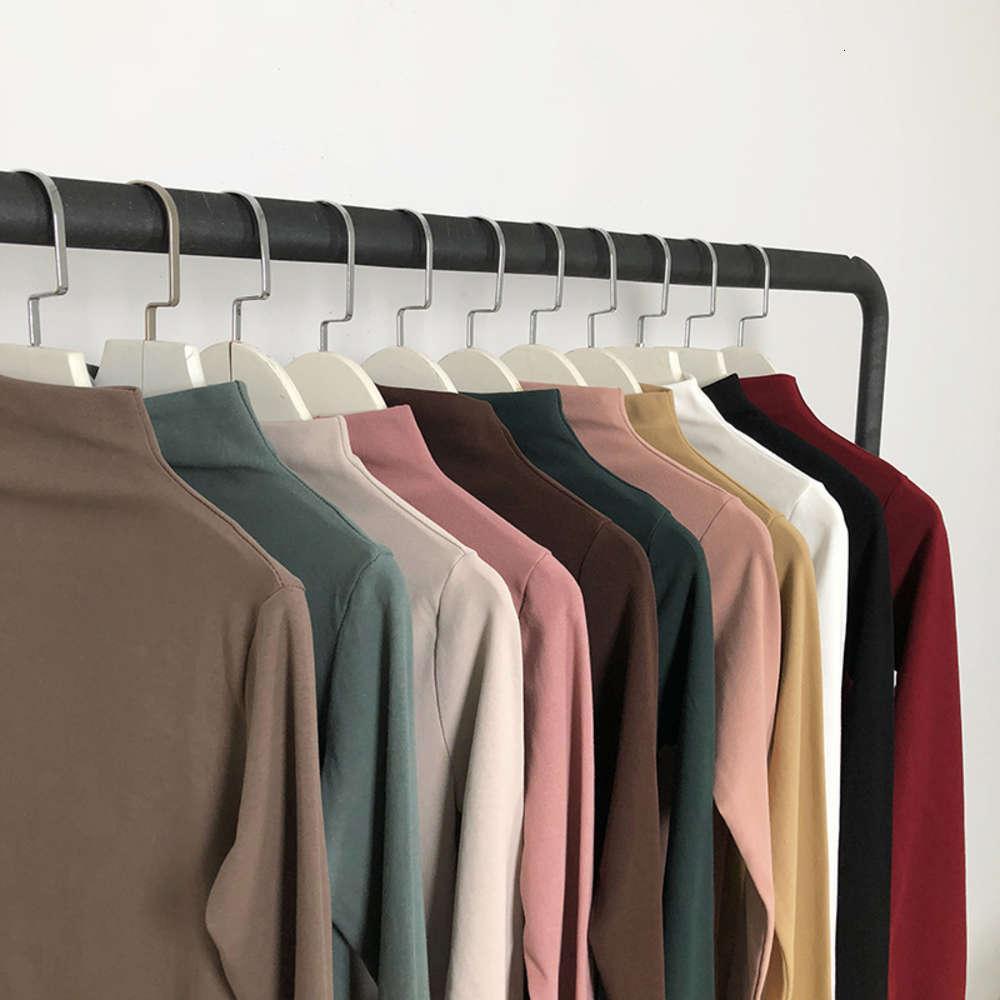 T-shirt a manica lunga a maniche lunghe in peluche autunno e inverno per le donne