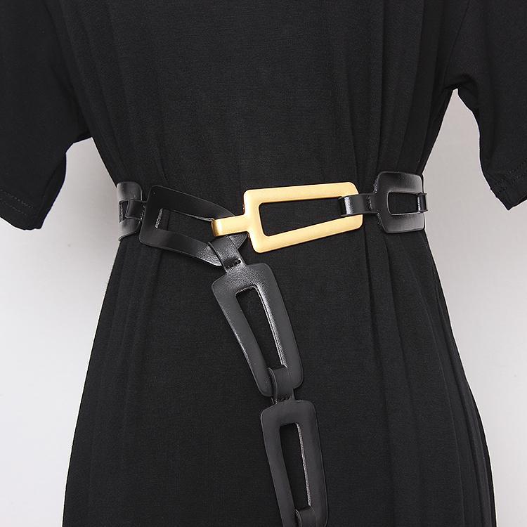 Fashion-2020 Novo Design Cinto de Cintura PU para Mulheres Branco Vermelho Preto Grande Tamanho Ajustável Casaco De Outono Vestido Corset Strap Cintos