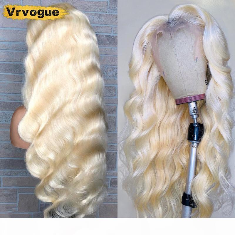 10-28 дюйма 613 парик человеческих волос Remy Remy бразильский кузовной волна кружева передние волосы волосы 150% Rem My Блондинка кружева передний парик VRVOGUE