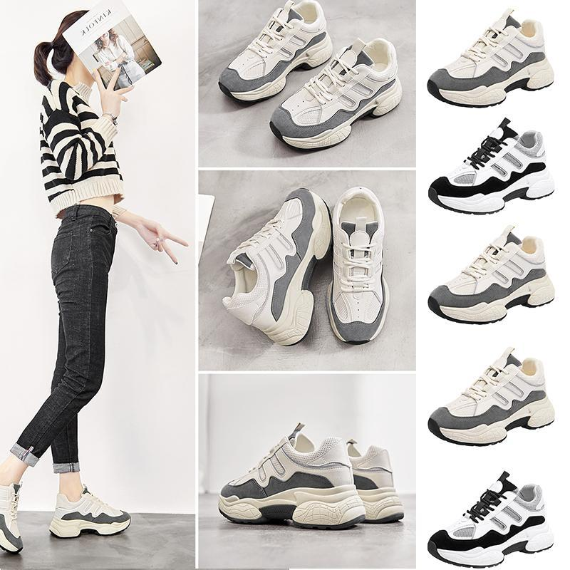 Hogh Quality Women Old Dad Shoes Triple White Grey Black Mesh Breathable Comfortable Sports Designer Sneakers Size 35 -40 2021 2021