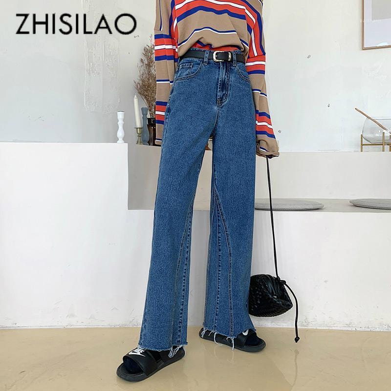 Vintage High Taille Jeans Femmes Maxi Boyfriend Street Jeans Large jambe Lâche Plus Taille Denim Pantalon 2020 Mom1
