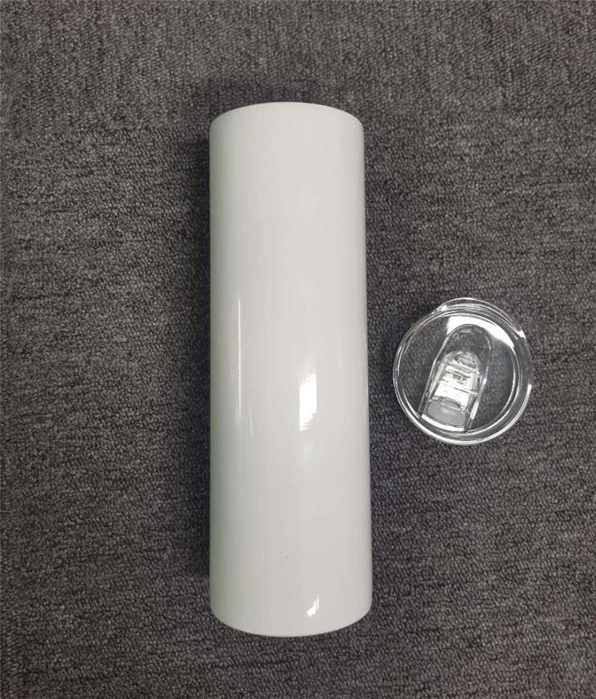 Vaso de sublimación Recto 20 oz con botellas de agua de acero inoxidable de la paja Doble con aislamiento Copa de vacío Bebida de vacío Barco por océano A13