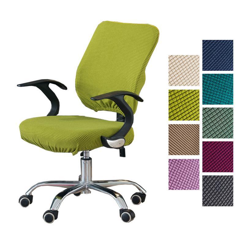 Tapa de la silla de la silla de la silla de la silla de la silla de la silla del núcleo de maíz Cubiertas de la silla de la computadora de Spandex Oficina de la cubierta del asiento anti-polvo Cubierta de sillón sólido universal 201119