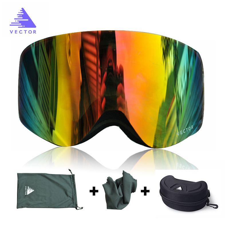 Бренд лыжные очки с корпусом Двухместный объектив UV400 Анти-туманный лыжный лыжный лыжный Очки Снежные Очки лыжные мужчины Женщины Сноуборд Очки F1222