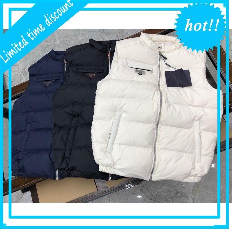 2020 Automne / hiver Vestes de créateurs chauds neuves 95% de canard blanc Slim gilet à capuche épais occasionnel Hommes veste