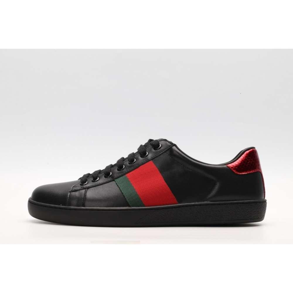 2020 Erkek Yeni Varış Moda Casual Kadınlar Lüks Tasarımcı Sneakers Ayakkabı En Kaliteli Hakiki Deri Arı Işlemeli 36-44 Ücretsiz Kargo