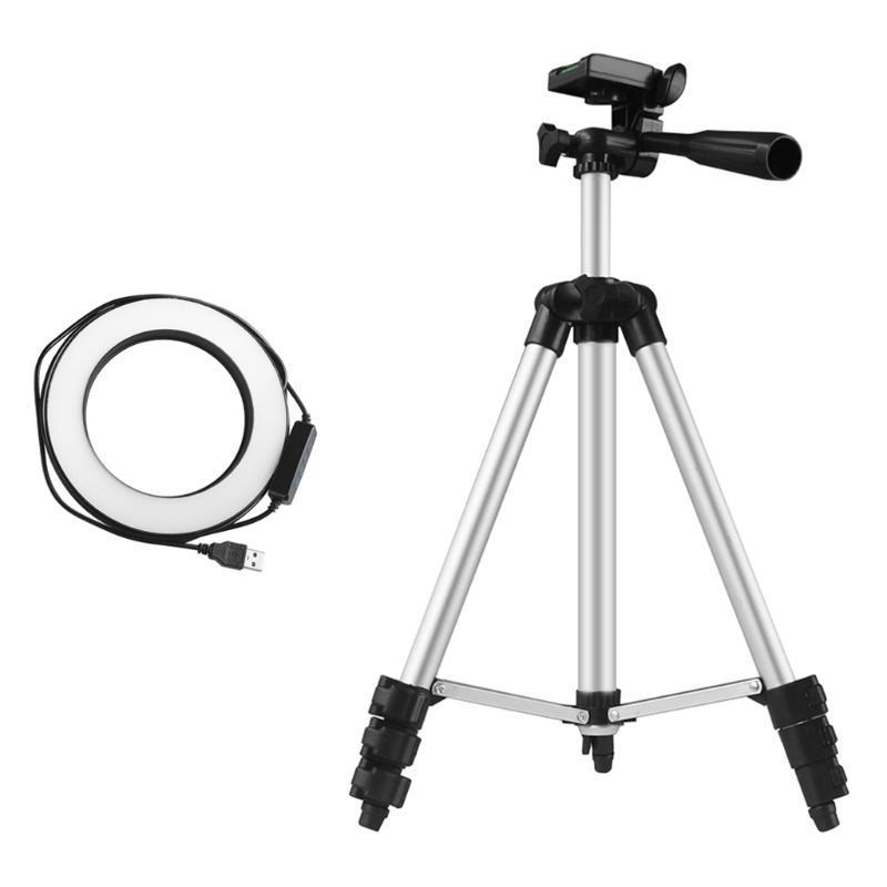 "360 Grad Rotation 6 ""/ 16 cm Dimmable Ring Licht Kit 3200-5500K für Selfie Ringlight Make-Up Live-Streaming LED Ringlicht"