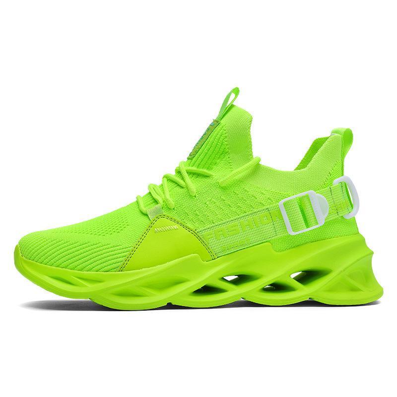 أرخص رجل إمرأة الاحذية الثلاثي الأسود الأبيض الأخضر الأحذية في الهواء الطلق الرجال مصمم أحذية رياضية الرياضة المدربين حجم 39-46