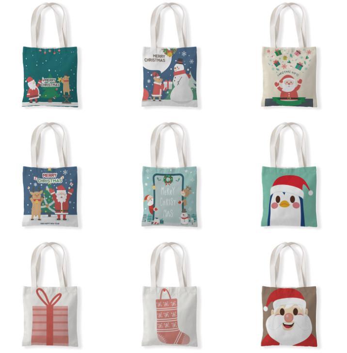 أحدث الحجم 33x37cm، حقيبة هدايا عيد الميلاد، تخزين عيد الميلاد وأسلوب ثلج، حقيبة واحدة الكتف، حقيبة يد، حقيبة تسوق، شحن مجاني
