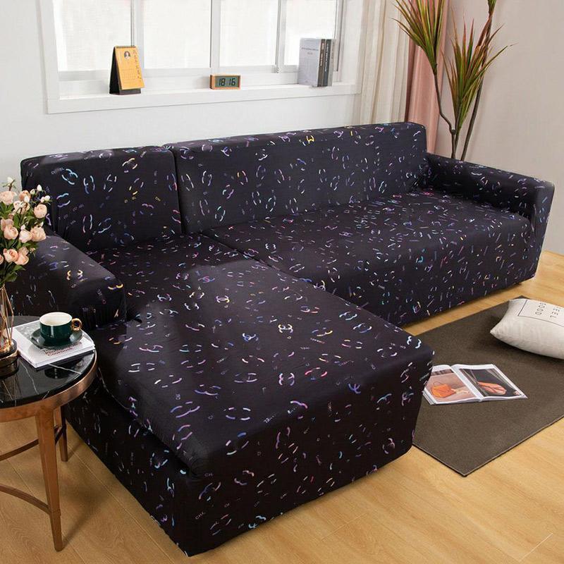LUXURYS Designers Cubiertas de sofá de esquina para sala de estar Spandex SlfCovers Elog Pouch Town Sofa Sofa Toalla L Funda de forma