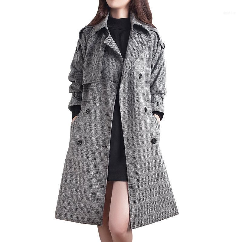 Women Autumn Long Trench Coat Female Jacket Windbreaker1