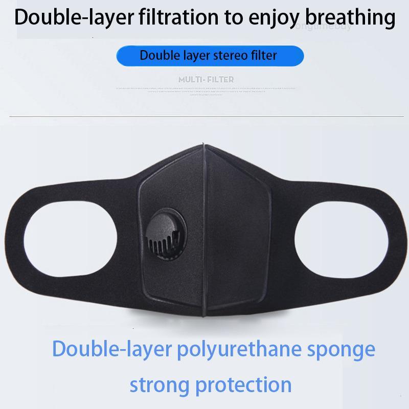 Umweltverschmutzung Black Attreator Cosslony Unisex Schwamm PM2.5 Halbgesicht Mundmaske mit Atemweiten Riemen waschbar wiederverwendbar mu
